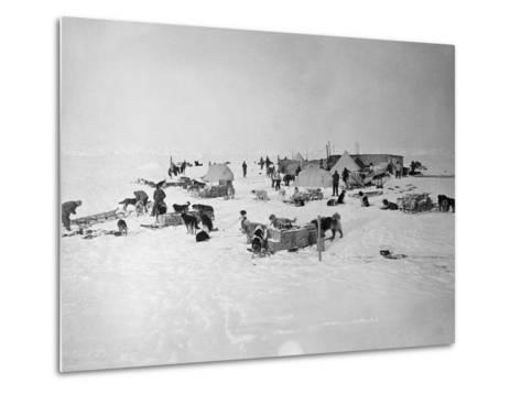 Shackleton's Base Camp on the Ross Ice Shelf--Metal Print