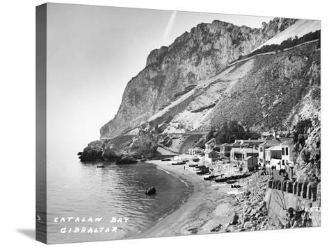Catalan Bay--Stretched Canvas Print