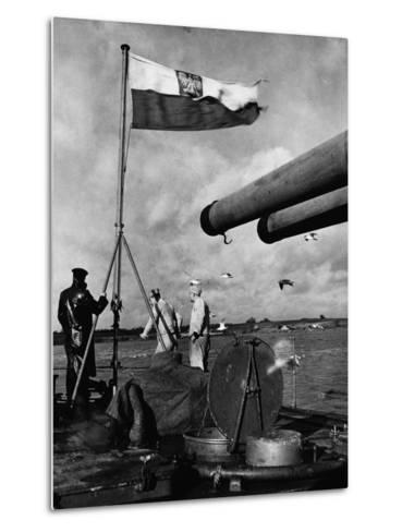 Polish Ships with British Fleet--Metal Print