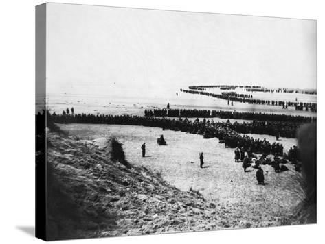 Troops Ready for Evacuation at Dunkirk--Stretched Canvas Print