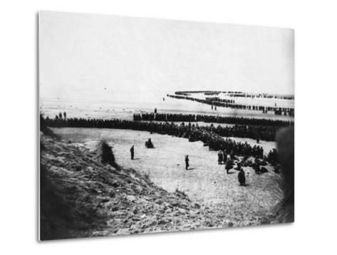 Troops Ready for Evacuation at Dunkirk--Metal Print