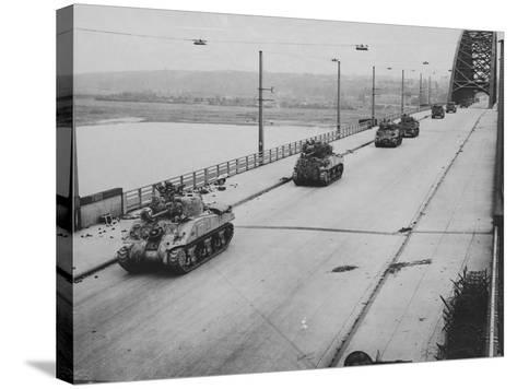 Tanks Cross Nijmegen Bridge--Stretched Canvas Print