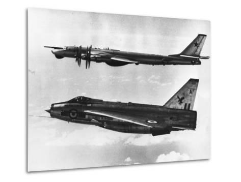 British Fighter Intercepting Soviet Bomber--Metal Print