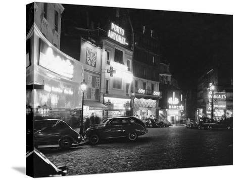 Place Pigalle--Stretched Canvas Print