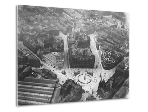 Aerial View of Leeds--Metal Print