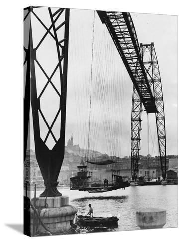 Transporter Bridge in Marseille--Stretched Canvas Print