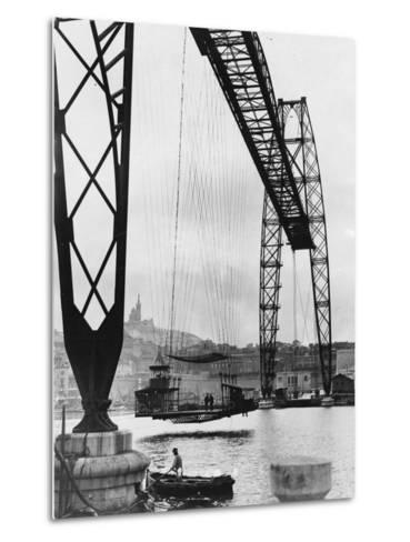 Transporter Bridge in Marseille--Metal Print