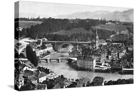 A View of Bern--Stretched Canvas Print