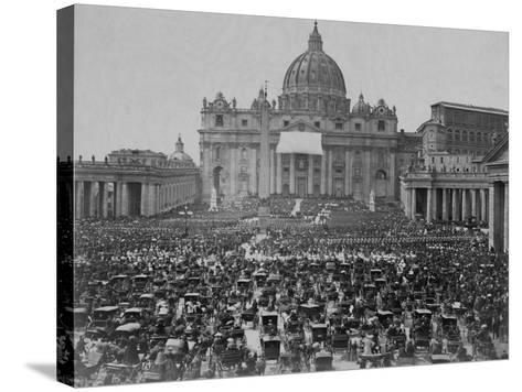 Papal Benediction at St. Peter's Basilica--Stretched Canvas Print