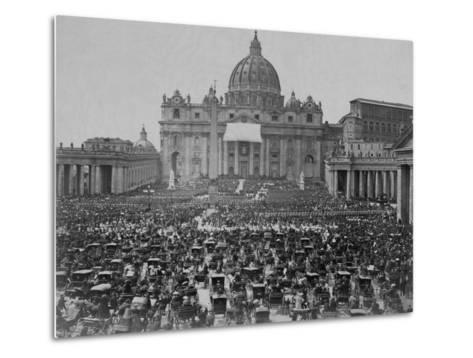 Papal Benediction at St. Peter's Basilica--Metal Print