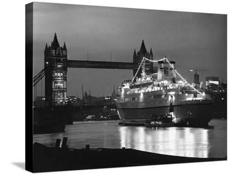 Finnpartner Ferry at Tower Bridge--Stretched Canvas Print