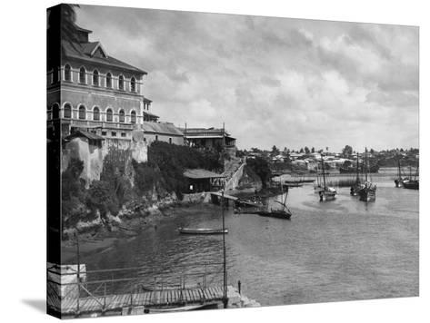 Mombasa Harbor--Stretched Canvas Print