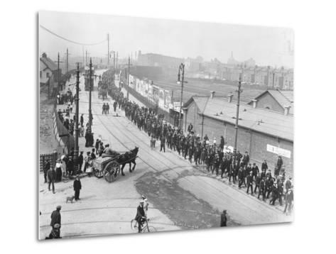 Labor Strikers March--Metal Print