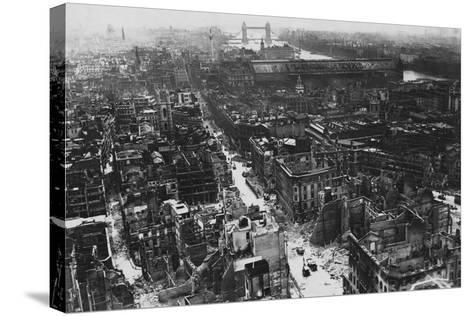 War Damaged London, 1941--Stretched Canvas Print