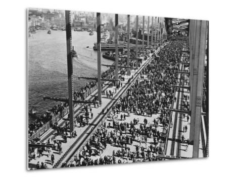 Opening of the Sydney Harbour Bridge--Metal Print