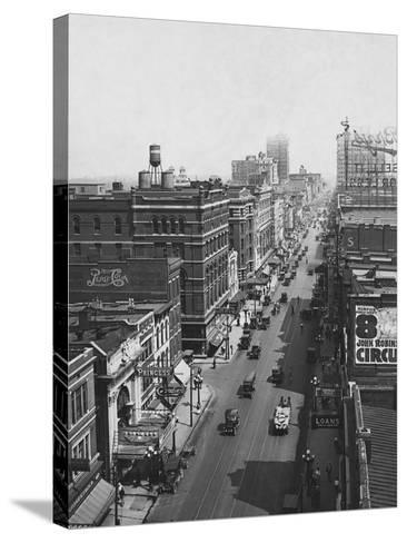 Main Street--Stretched Canvas Print