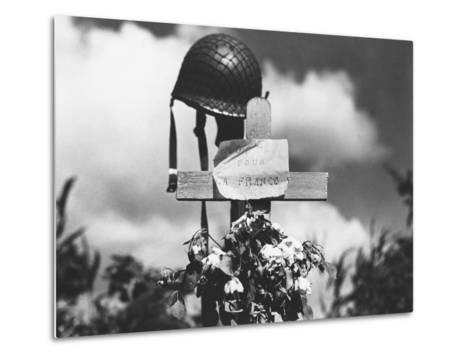 Grave of American Soldier--Metal Print