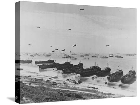 Landing on Omaha Beach--Stretched Canvas Print