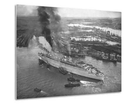 Queen Mary Docks in Southampton--Metal Print