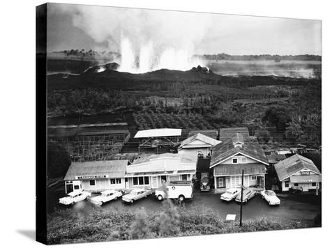Eruption of Kilauea Near Kapoho Plantation--Stretched Canvas Print