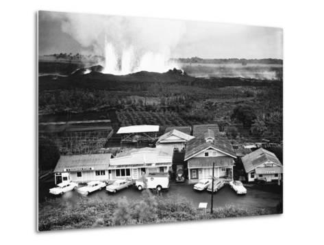 Eruption of Kilauea Near Kapoho Plantation--Metal Print