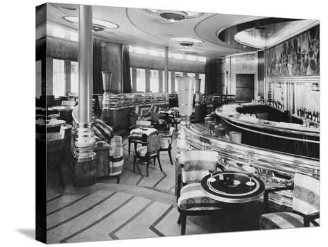 Cocktail Bar of the Queen Mary--Stretched Canvas Print