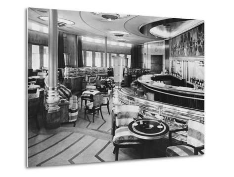Cocktail Bar of the Queen Mary--Metal Print