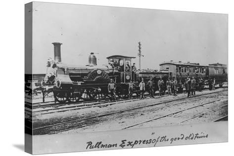 Pullman Express Locomotive--Stretched Canvas Print
