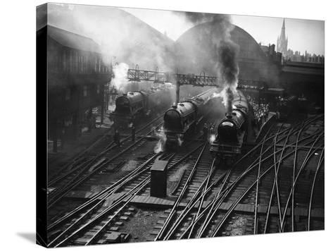 Holiday Expresses About to Leave King's Cross Station--Stretched Canvas Print