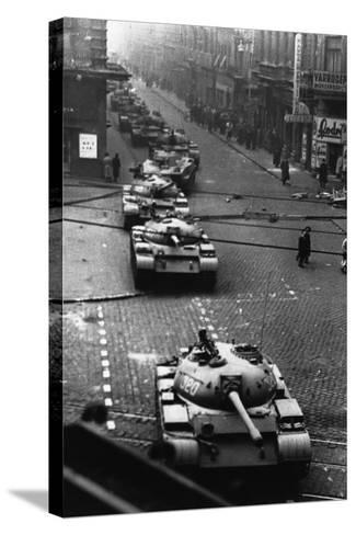 Russian Tanks on Budapest Street in 1956--Stretched Canvas Print