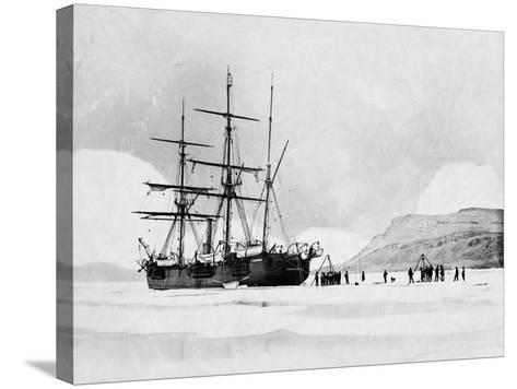 HMS Alert in Arctic Circle--Stretched Canvas Print