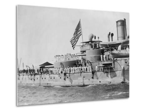USS Massachusetts Warship--Metal Print