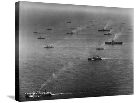Ships of the US Sixth Fleet--Stretched Canvas Print