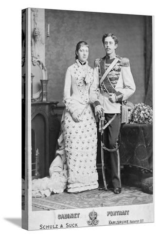 King of Sweden and His Wife--Stretched Canvas Print