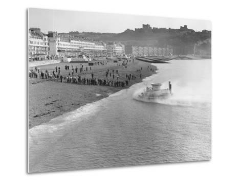 SRNI Hovercraft Arriving at Dover after the First Channel Crossing--Metal Print