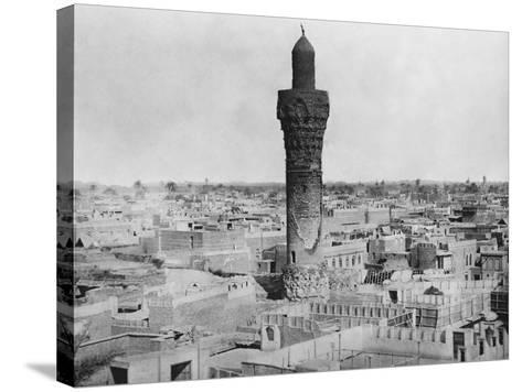 Baghdad Minaret--Stretched Canvas Print