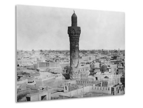 Baghdad Minaret--Metal Print