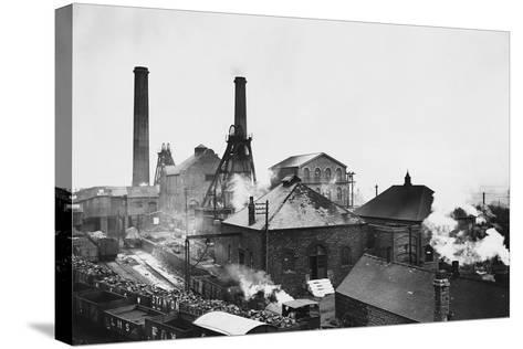 Pleasley Colliery in Derbyshire--Stretched Canvas Print