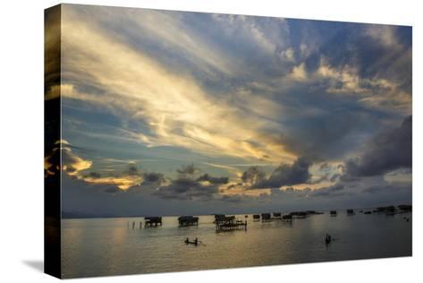 Sunset in Sabah, Malaysia1-Art Wolfe-Stretched Canvas Print