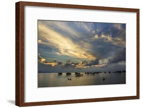 Sunset in Sabah, Malaysia1-Art Wolfe-Framed Art Print