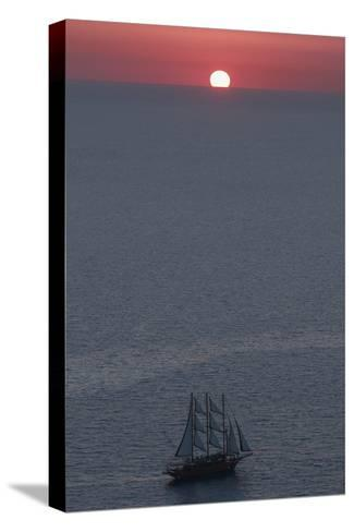 Sunset in Santorini Greece 2-Art Wolfe-Stretched Canvas Print
