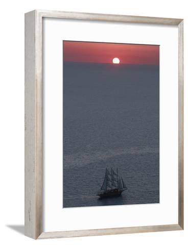 Sunset in Santorini Greece 2-Art Wolfe-Framed Art Print