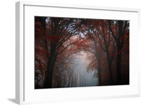 Red Forest-Philippe Manguin-Framed Art Print