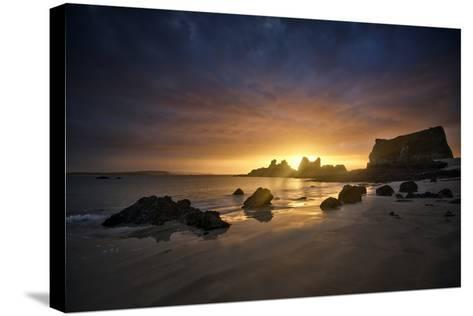 Morgat Sunrise-Philippe Manguin-Stretched Canvas Print