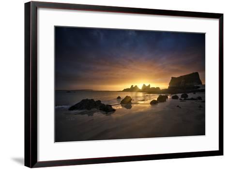 Morgat Sunrise-Philippe Manguin-Framed Art Print