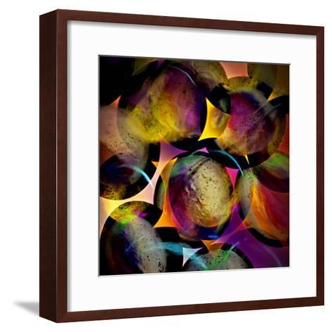 Abstract with Circles-Ursula Abresch-Framed Art Print