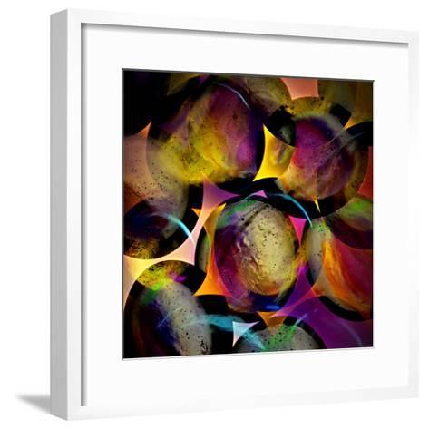 Abstract with Circles-Ursula Abresch-Framed Art Print