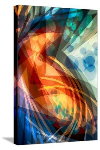 B (Colorful Abstract)-Ursula Abresch-Stretched Canvas Print