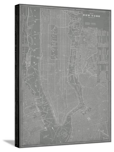 City Map of New York-Vision Studio-Stretched Canvas Print