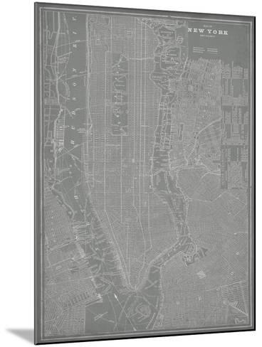 City Map of New York-Vision Studio-Mounted Art Print